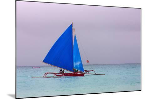 Sailing in the Ocean, Boracay Island, Aklan Province, Philippines-Keren Su-Mounted Photographic Print