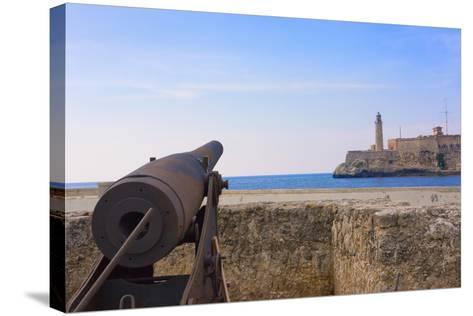 Seawall, El Morro Fort, Fortification, Havana, UNESCO World Heritage Site, Cuba-Keren Su-Stretched Canvas Print