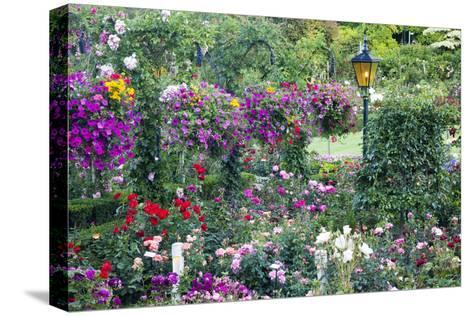 Butchart Gardens in Full Bloom, Victoria, British Columbia, Canada-Terry Eggers-Stretched Canvas Print