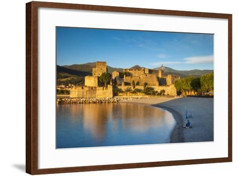 Fishing, Royal Castle, Collioure, Pyrenees-Orientales, Languedoc-Roussillon France-Brian Jannsen-Framed Art Print