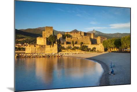 Fishing, Royal Castle, Collioure, Pyrenees-Orientales, Languedoc-Roussillon France-Brian Jannsen-Mounted Photographic Print