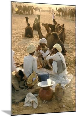 Pastoral Nomads at Annual Pushkar Camel Fair, Rajasthan, Raika, India-David Noyes-Mounted Photographic Print
