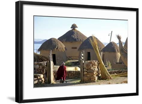 Andean Eco-Village Inca Utama, Lake Titicaca, Huatajata, Bolivia-Kymri Wilt-Framed Art Print