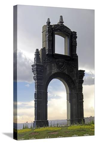 Monument at Mirador Killi Killi in La Paz, Bolivia-Kymri Wilt-Stretched Canvas Print