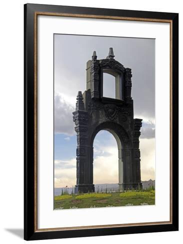 Monument at Mirador Killi Killi in La Paz, Bolivia-Kymri Wilt-Framed Art Print