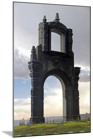 Monument at Mirador Killi Killi in La Paz, Bolivia-Kymri Wilt-Mounted Photographic Print