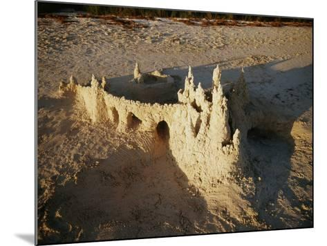 View of Sandcastle on Beach-David Barnes-Mounted Photographic Print