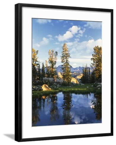 Landscape with Reflection of Lake, Wyoming, USA-Scott T^ Smith-Framed Art Print