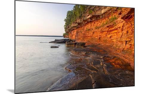 Sandstone Cliffs, Sea Caves, Devils Island, Apostle Islands Lakeshore, Wisconsin, USA-Chuck Haney-Mounted Photographic Print