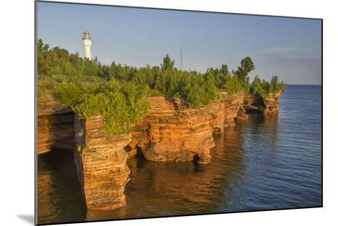 Sandstone Cliffs, Sea Caves, Devils Island, Apostle Islands Lakeshore, Wisconsin, USA-Chuck Haney-Mounted Photographic Print