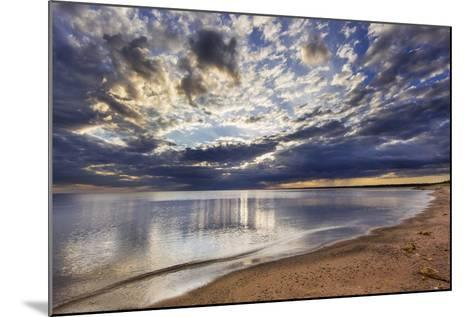 Sun Breaks Cloudy Morning, Superior Point, Lake Superior, Wisconsin, USA-Chuck Haney-Mounted Photographic Print