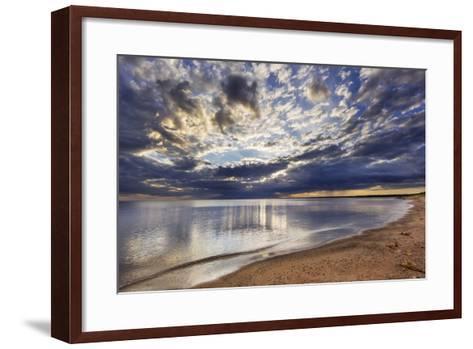 Sun Breaks Cloudy Morning, Superior Point, Lake Superior, Wisconsin, USA-Chuck Haney-Framed Art Print