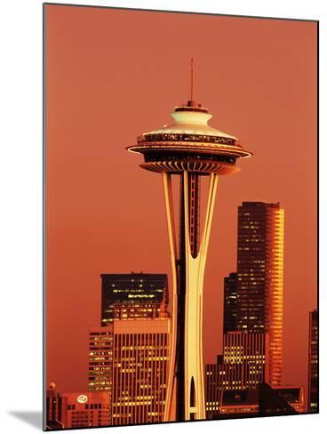 View of Space Needle and Seattle Buildings, Seattle, Washington, USA-Stuart Westmorland-Mounted Photographic Print