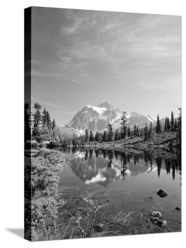 Mt Shuksan with Picture Lake, Mt Baker National Recreation Area, Washington, USA-Stuart Westmorland-Stretched Canvas Print