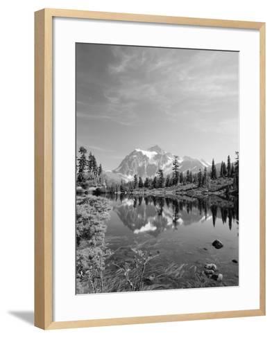 Mt Shuksan with Picture Lake, Mt Baker National Recreation Area, Washington, USA-Stuart Westmorland-Framed Art Print