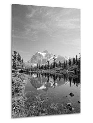 Mt Shuksan with Picture Lake, Mt Baker National Recreation Area, Washington, USA-Stuart Westmorland-Metal Print