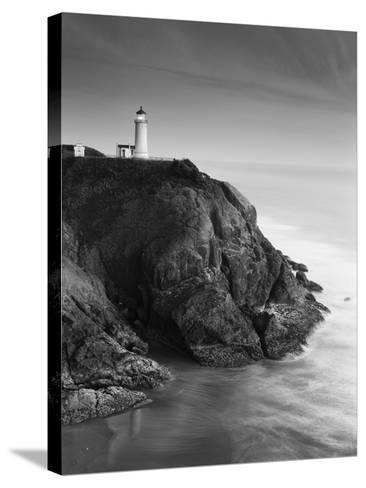 North Head Lighthouse on Cliff, Fort Canby State Park, Washington, USA-Stuart Westmorland-Stretched Canvas Print