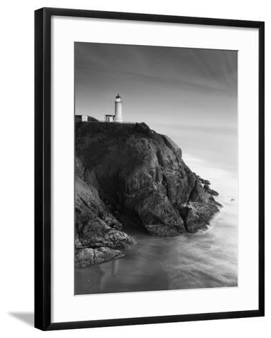 North Head Lighthouse on Cliff, Fort Canby State Park, Washington, USA-Stuart Westmorland-Framed Art Print
