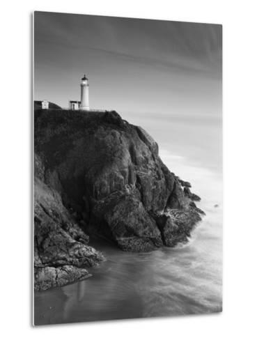 North Head Lighthouse on Cliff, Fort Canby State Park, Washington, USA-Stuart Westmorland-Metal Print
