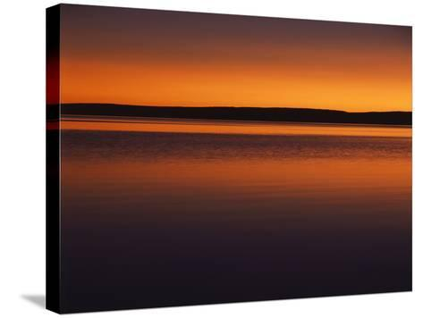 View of Yellowstone Lake at Sunset, Yellowstone National Park, Wyoming, USA-Scott T^ Smith-Stretched Canvas Print