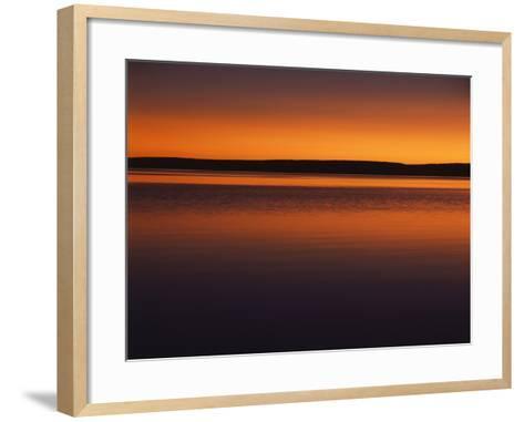 View of Yellowstone Lake at Sunset, Yellowstone National Park, Wyoming, USA-Scott T^ Smith-Framed Art Print