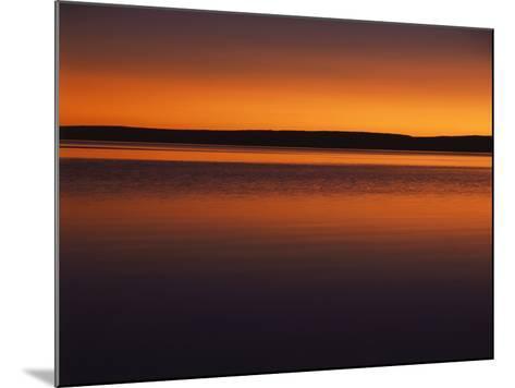 View of Yellowstone Lake at Sunset, Yellowstone National Park, Wyoming, USA-Scott T^ Smith-Mounted Photographic Print