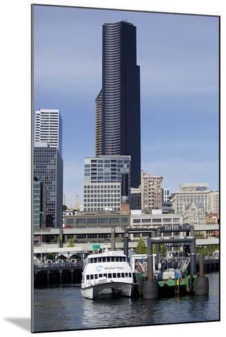 Water Taxi with Skyline, Seattle, Washington, USA-Jamie & Judy Wild-Mounted Photographic Print