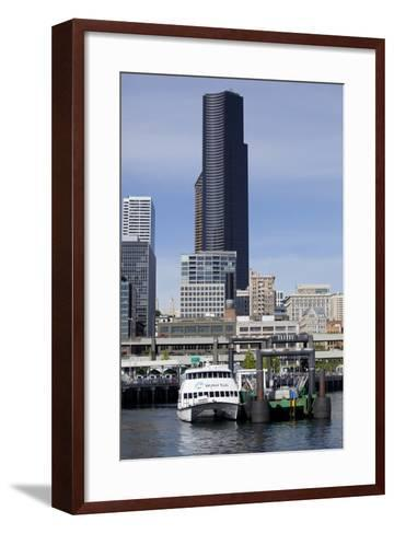 Water Taxi with Skyline, Seattle, Washington, USA-Jamie & Judy Wild-Framed Art Print