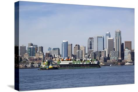 Port of Seattle, Container Ships, Seattle, Washington, USA-Jamie & Judy Wild-Stretched Canvas Print