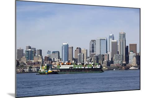 Port of Seattle, Container Ships, Seattle, Washington, USA-Jamie & Judy Wild-Mounted Photographic Print