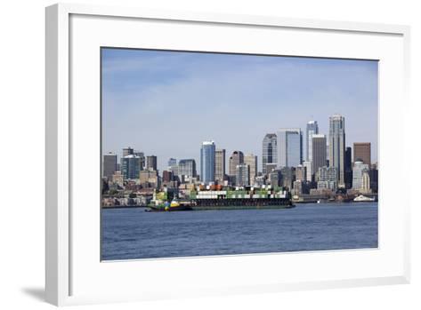 Port of Seattle, Container Ships, Seattle, Washington, USA-Jamie & Judy Wild-Framed Art Print