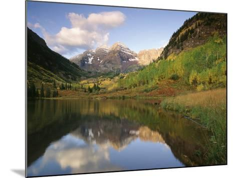 Maroon Bells Reflected in Maroon Lake, White River National Forest, Colorado, USA-Adam Jones-Mounted Photographic Print