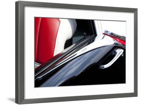 Detail at Classic Car Show, Kirkland, Washington, USA-John & Lisa Merrill-Framed Art Print