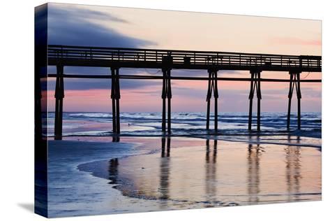 Sunset Beach Pier at Sunrise, North Carolina, USA--Stretched Canvas Print