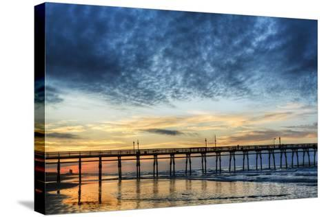 Sunset Beach Pier at Sunrise, North Carolina, USA--Stretched Canvas Print