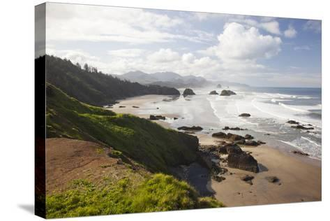 Cannon Beach and Haystack Rock, Crescent Beach, Ecola State Park, Oregon, USA-Jamie & Judy Wild-Stretched Canvas Print