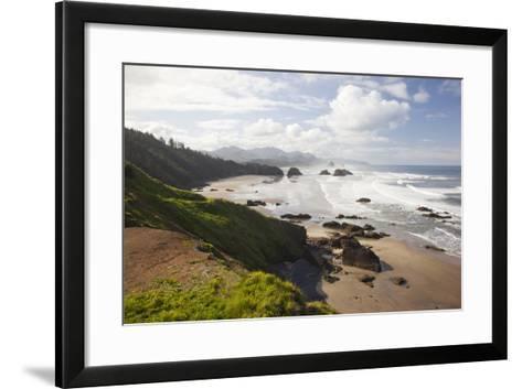 Cannon Beach and Haystack Rock, Crescent Beach, Ecola State Park, Oregon, USA-Jamie & Judy Wild-Framed Art Print
