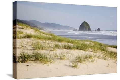 Cannon Beach and Haystack Rock, Oregon, USA-Jamie & Judy Wild-Stretched Canvas Print