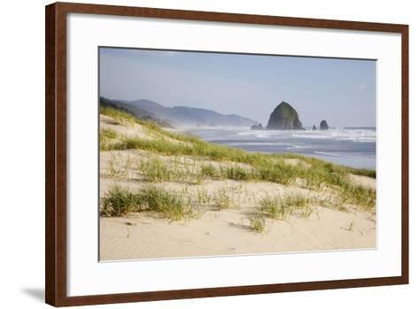 Cannon Beach and Haystack Rock, Oregon, USA-Jamie & Judy Wild-Framed Art Print