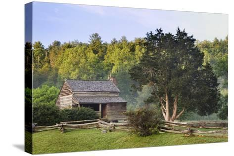 Pioneer Cabins in Cades Cove, Great Smoky Mountains National Park, Tennessee, USA--Stretched Canvas Print