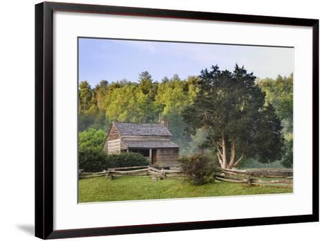 Pioneer Cabins in Cades Cove, Great Smoky Mountains National Park, Tennessee, USA--Framed Art Print