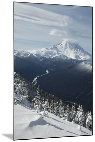 View of Mt. Rainier and White River from Crystal Mountain, Washington, USA-John & Lisa Merrill-Mounted Photographic Print