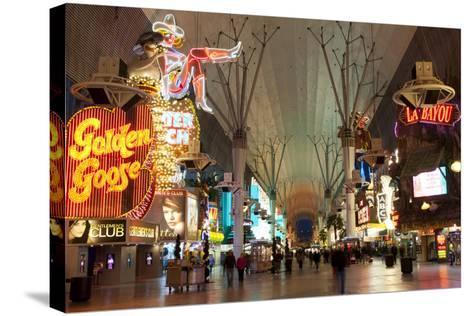 Fremont Street Experience Las Vegas, Nevada, USA-Michael DeFreitas-Stretched Canvas Print