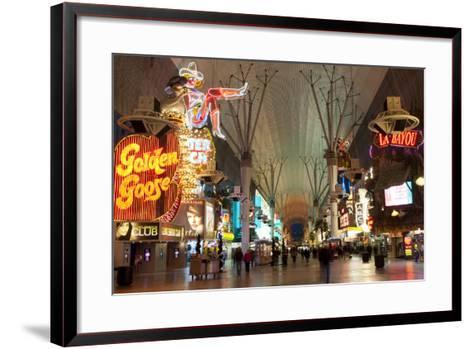 Fremont Street Experience Las Vegas, Nevada, USA-Michael DeFreitas-Framed Art Print