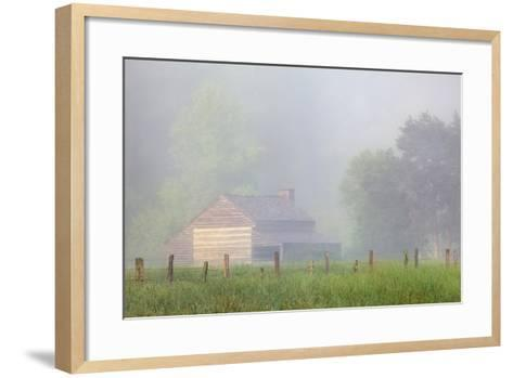 Pioneer's Cabin, Misty Cades Cove, Great Smoky Mountains National Park, Tennessee, USA--Framed Art Print