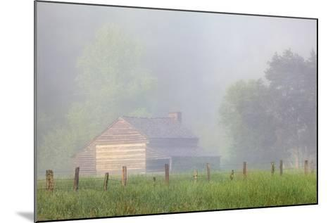 Pioneer's Cabin, Misty Cades Cove, Great Smoky Mountains National Park, Tennessee, USA--Mounted Photographic Print