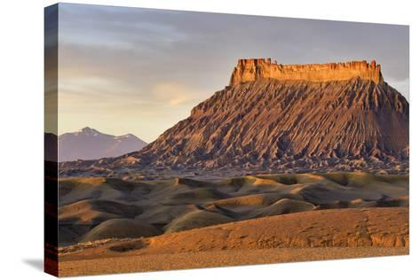 Factory Butte, the Henry Mountains, Upper Blue Hills Near Hanksville, Utah, USA-Chuck Haney-Stretched Canvas Print