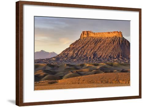 Factory Butte, the Henry Mountains, Upper Blue Hills Near Hanksville, Utah, USA-Chuck Haney-Framed Art Print