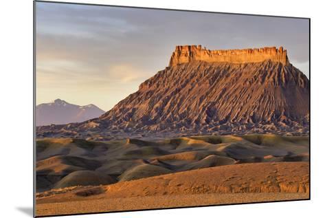 Factory Butte, the Henry Mountains, Upper Blue Hills Near Hanksville, Utah, USA-Chuck Haney-Mounted Photographic Print