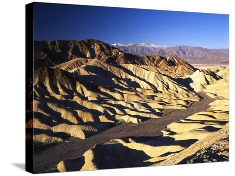 Telescope Peak in Mojave Desert, Death Valley National Park, Zabriskie Point, California, USA-Adam Jones-Stretched Canvas Print
